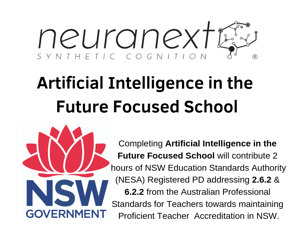 Neuranext achieves the first ever NSW Government approved A.I. course for Teachers.