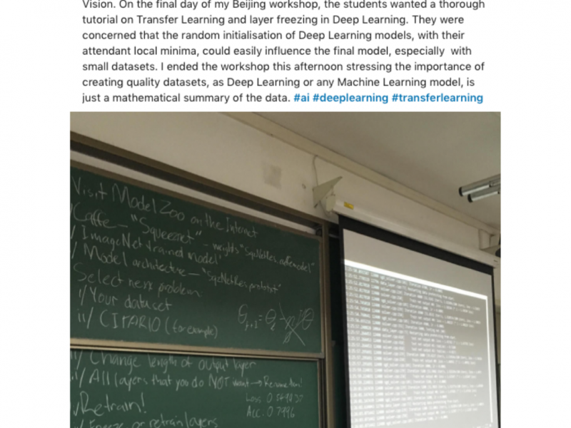Neuranext delivers A.I. course to Doctoral Students at Beijing Normal University.