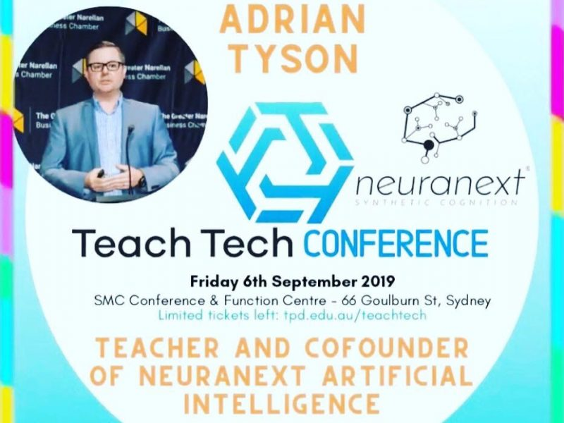 Neuranext Speaking about Artificial Intelligence Education at Teach Tech Conference.